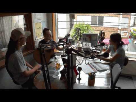 Broadcasting Antoine Dufour on Amami-FM in Japan