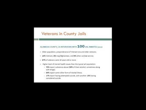 Webinar: Veterans in Criminal Justice - New Developments in California Law and Treatment