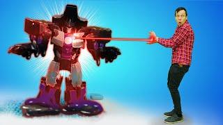 Видео игры для мальчиков – Десептикона Мегатрона расплавили? – Игры роботы Трансформеры онлайн.