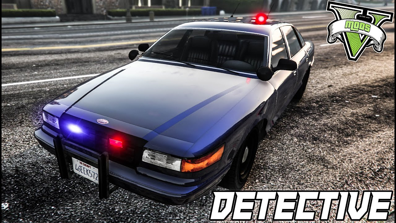 GTA 5 PC Mods: Unmarked / Detective Police Car (Grand ...