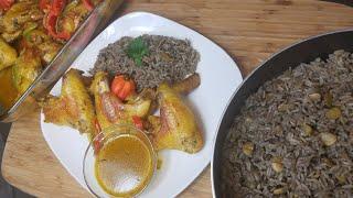 Black Mushroom Rice Recipe| Haitian Party RICE