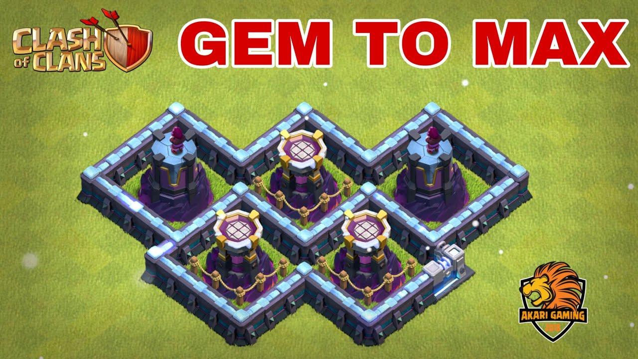MUA SẬP CỬA HÀNG ƯU ĐÃI MAX TOWN HALL13 Clash of clans | GEM TO MAX | Akari Gaming