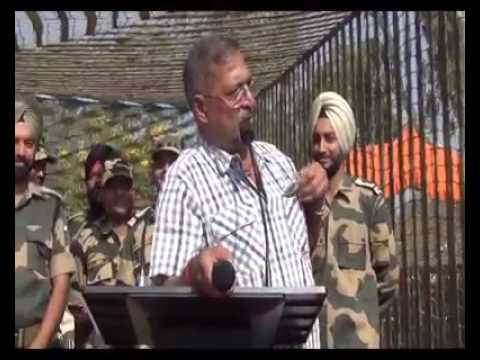 Nana Patekar  delivering dialogues of his movies at BSF headquarters ib Samba.