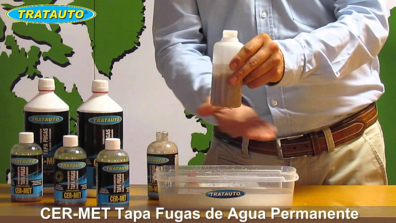 Cer met tapa fugas de agua permanente tratauto youtube for Fugas de agua madrid