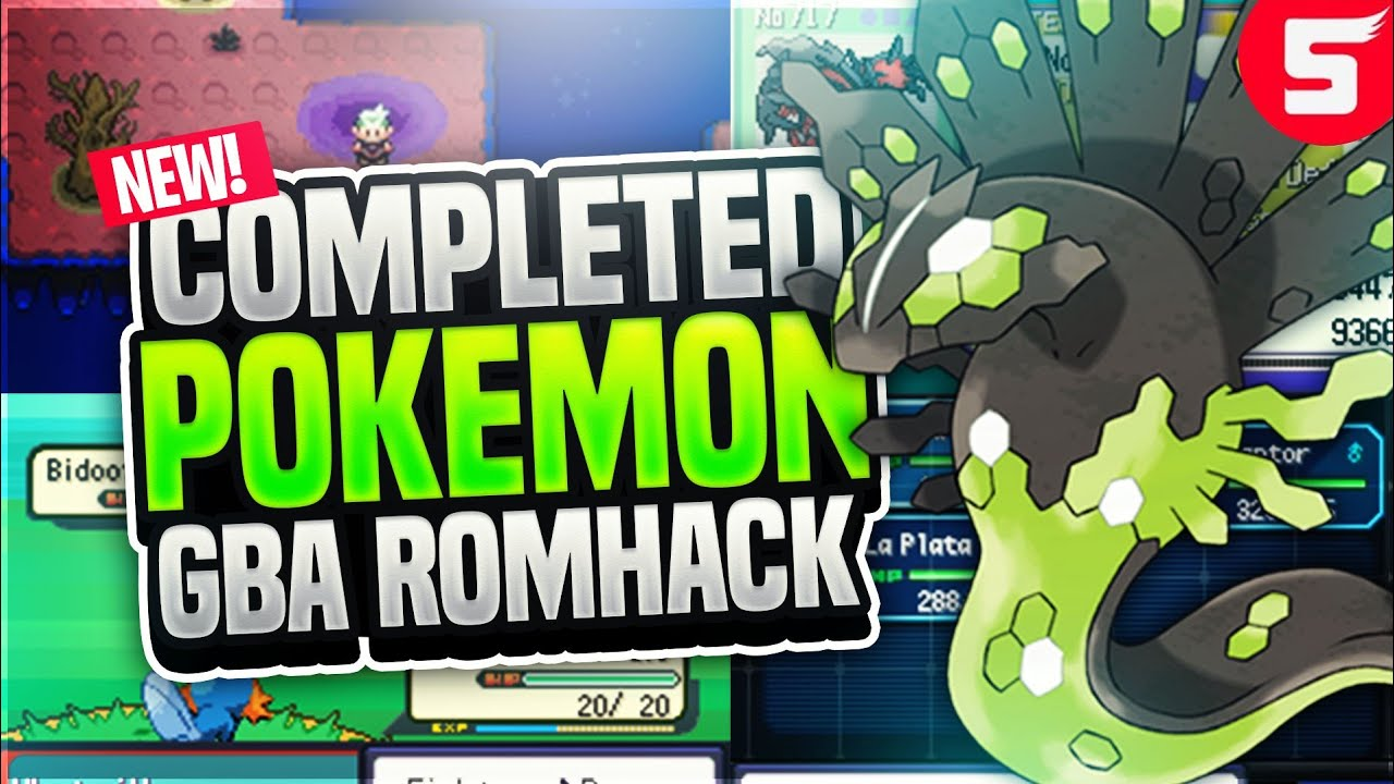 Completed Pokemon GBA Rom Hack With Gen 5, New Story