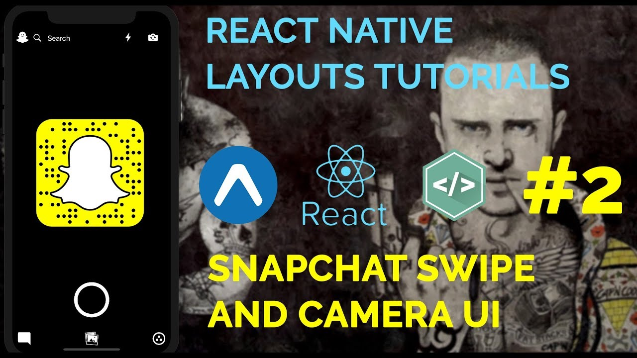 #2 Snapchat Camera UI | React Native Layout Series | Expo and Native Base