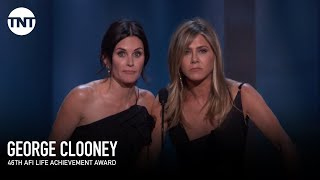 Jennifer Aniston & Courteney Cox Toast George Clooney | AFI 2018 | TNT