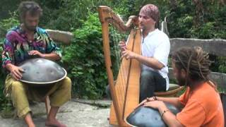 Alizbar & Amin Varkonyi & Norbi Pavel  2008 Two Hang  and Celtic harp improvisation