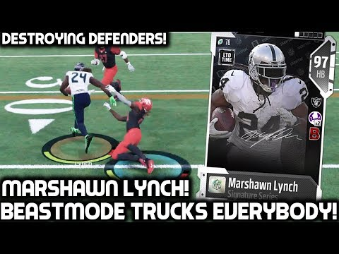 BEAST MODE TRUCKS EVERYBODY! MARSHAWN LYNCH IS UNSTOPPABLE! Madden 18 Ultimate Team