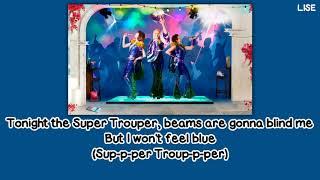 """Meryl Streep, Julie Walters & Christine Baranski - Super Trouper (From """"Mamma Mia!"""") [Lyrics Video]"""