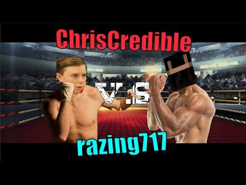 RAZING717 VS CHRISCREDIBLE BOXING MATCH!! #notclickbait (GD Race - CC Challenges)