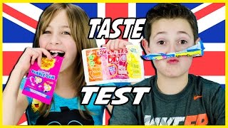 AMERICAN KIDS TRY BRITISH CANDY! FANMAIL FROM THE UK. CANDY & SWEETS TASTE TEST.