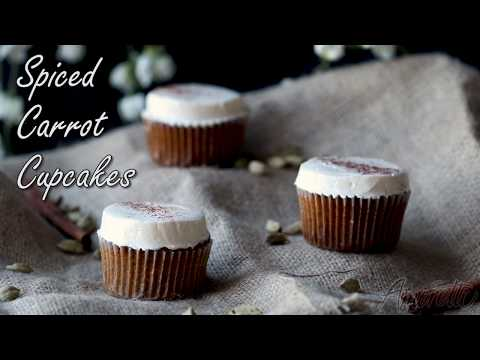 How to Make Delicious Spiced Carrot Cupcakes | Cupcakes with Buttercream Frosting Recipe
