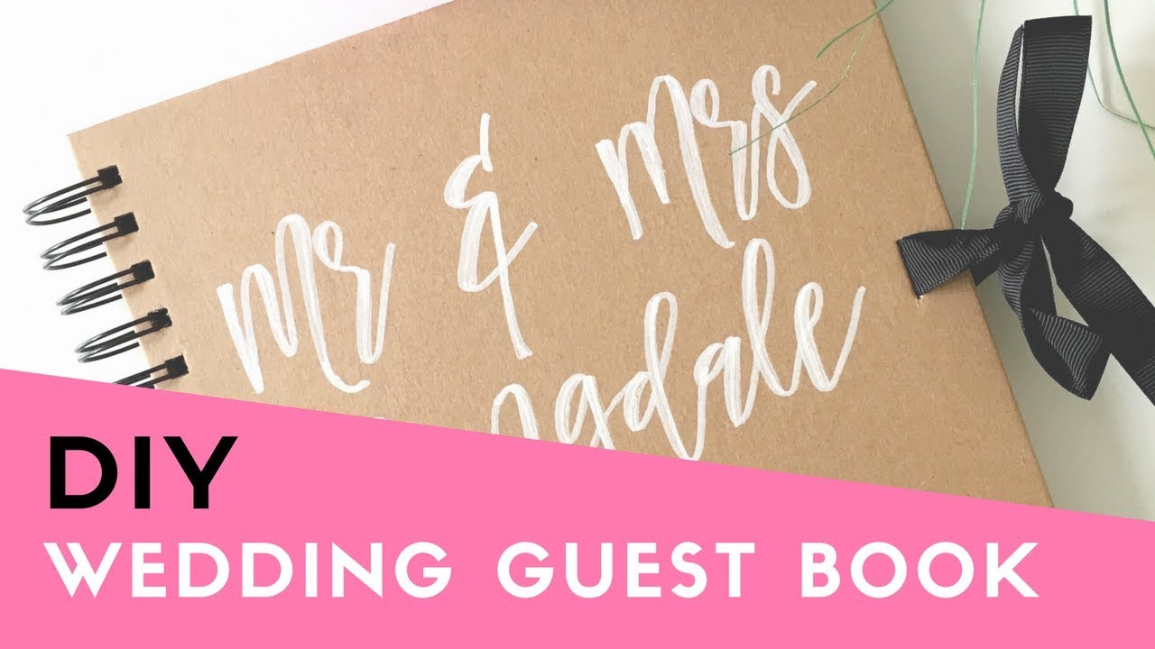 HOW TO: Make your own Wedding Guest Book (Cheap & Easy DIY ...