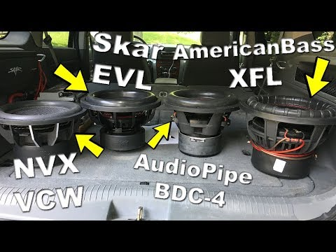 best-subwoofer-under-$200??-best-bang-for-the-buck?-|-skar-|-americanbass-|-audiopipe-|-nvx