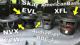 Best Subwoofer Under $200?? Best BANG For The Buck? | Skar | AmericanBass | AudioPipe | NVX