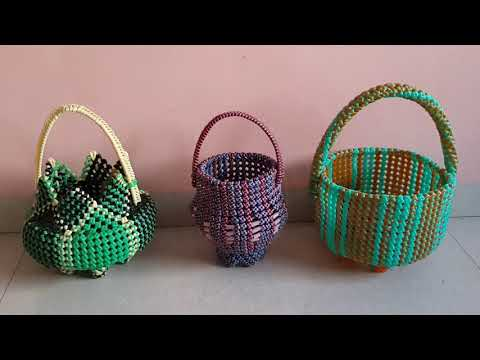 M.k.Plastic Wire POOJA Baskets