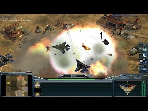 Hi-speed Bomber ready for takeoff! - Command and Conquer Generals: Zero Hour Gameplay