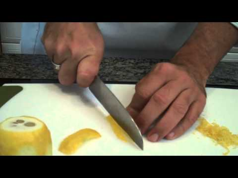 Chef Dave Tips...  How to zest a lemon