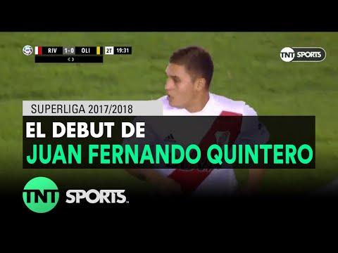 Así fue el debut de Juan Fernando Quintero en River Plate