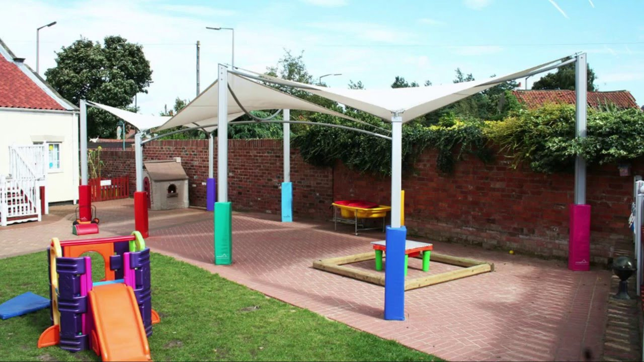 Kwikshade Canopies - Colourful Modern School Canopies & Kwikshade Canopies - Colourful Modern School Canopies - YouTube
