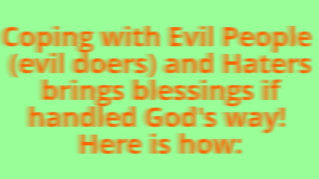 (PART 1) How To Deal With (ATHEISTS), (Evil People), (evil