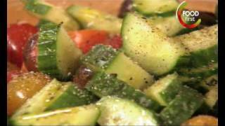 Healthy Recipes Low Cal - Tomato Cucumber Salad  - 5 Ingredient Fix - Easy Quick To Cook