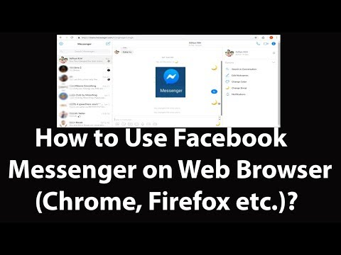 How to Use Facebook Messenger on Web Browser Google Chrome, Firefox,  Safari, Edge etc ?