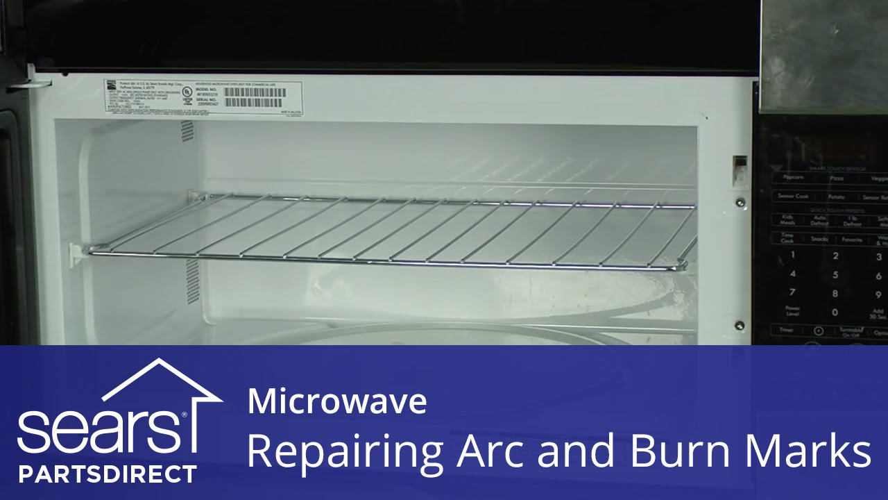 How To Repair Microwave Arc And Burn Marks Touch Up Paint   YouTube