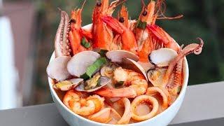 ТОМ ЯМ с креветками ВОСХИТИТЕЛЬНЫЙ Рецепт настоящего тайского супа Tom Yam Kung с морепродуктами