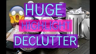 DECLUTTERING 100+ HIGHLIGHTERS | HIGHLIGHT COLLECTION