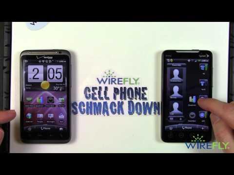HTC ThunderBolt vs. HTC EVO 4G  - Schmackdown!
