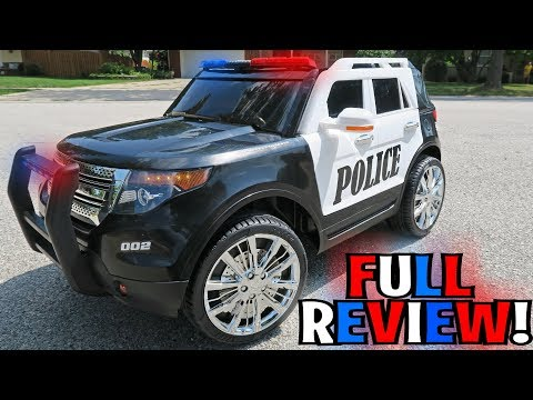 UNBOXING & LETS PLAY - RIDE ON POLICE CAR by Best Choice Products (FULL REVIEW!)