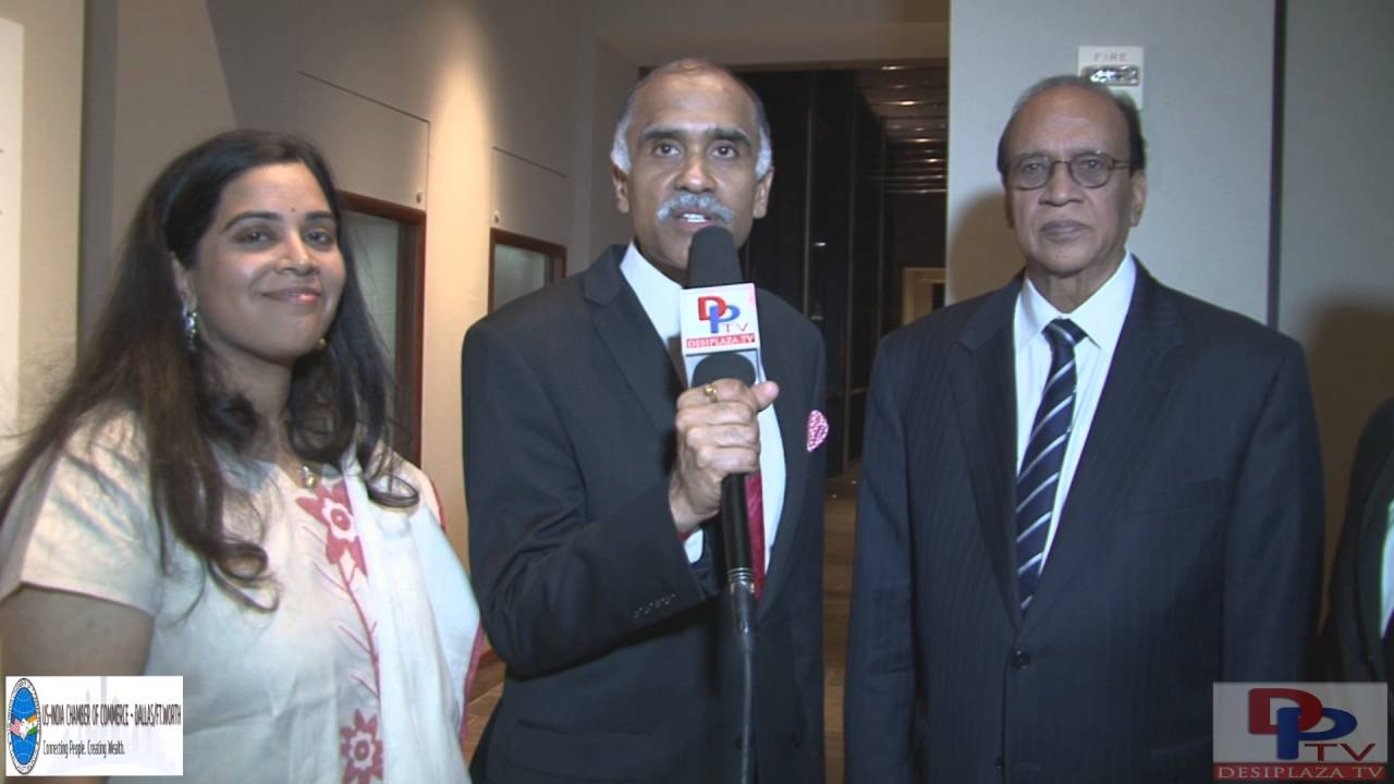 Honorable Harish Parvathaneni, India Consul General,Houston speaking to Desiplaza TV.