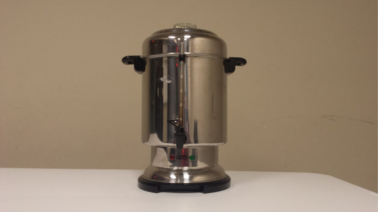 how to make coffee in a large percolator large coffee pot large coffee maker urn [ 1280 x 720 Pixel ]
