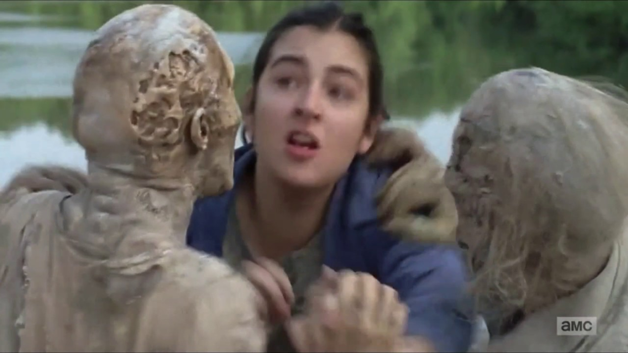 The Walking Dead Cindy And Tara Fight Against Walkers