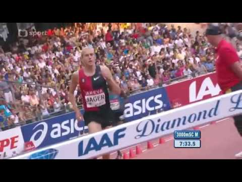 3000m Steeplechase Evan Jager 8:00.45 American Record Paris Diamond League FULL RACE