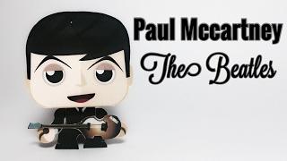 Paul Mccartney The Beatles Paper Crafts tutorial !