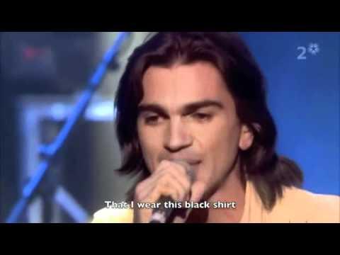 Juanes La Camisa Negra English Translation Youtube