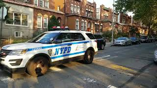 NYPD Arriving On Scene Of An Officer Assist In Jackson Heights, Queens, New York.