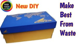 How to reuse waste Shoe Boxes to make useful things#Shoe Box craft#Best out of waste craft idea#