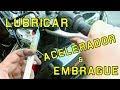 Lubricar cable de embrague y acelerador en la moto