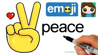 How to Draw Peace Sign Hand Emoji