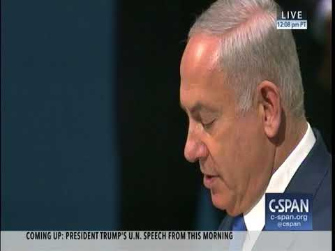 "9 19 2017 UN speech by Benjamin ""Bibi"" Netanyahu Iran Curtain Israel"