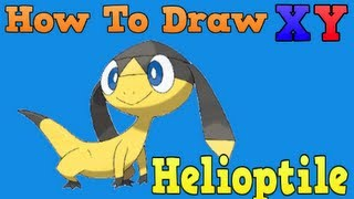 (Tutorial) How To Draw Pokemon: Helioptile