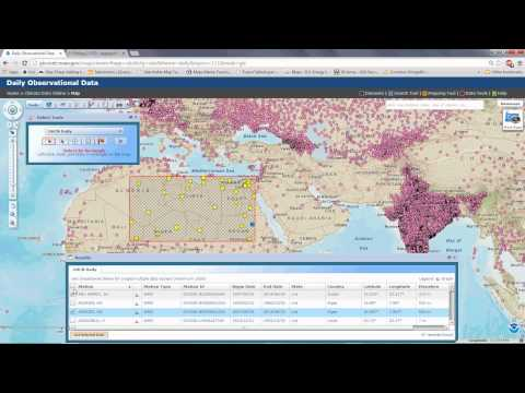 Tutorial on climate data retrieval from the National Climatic Data Center
