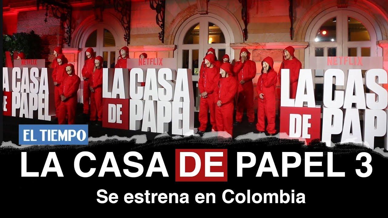 Se estrenó en Colombia la Casa de Papel 3