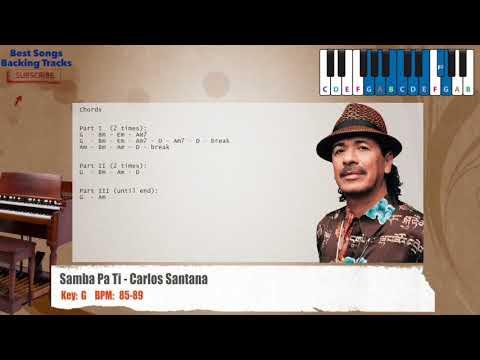 Best Songs Backing Tracks BSBT: Samba Pa Ti - Carlos Santana Piano ...