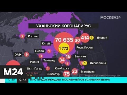 Число инфицированных в Китае превысило 70 тыс человек - Москва 24
