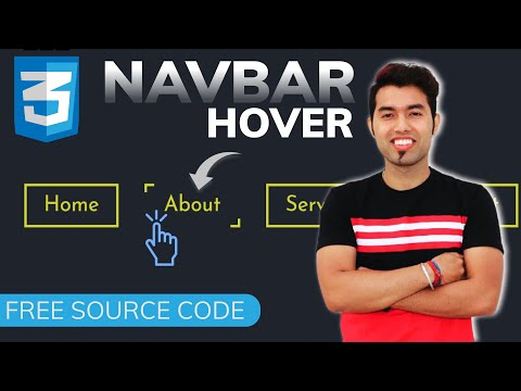 🔴 Create Awesome Menu Border Hover Effect Animation using CSS  | Free Source Code | 2021